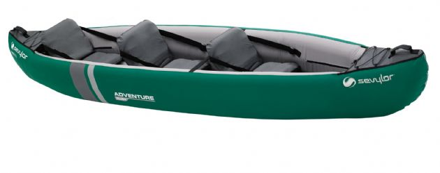Sevylor Adventure Plus 3 Person Inflatable Kayak, Water sports equipment - Grasshopper Leisure